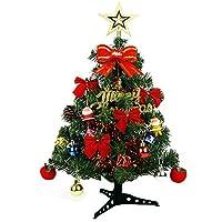 Firlar クリスマスツリー 45/60cm 卓上 ミニツリー クリスマス飾り LEDイルミネーション オーナメント おしゃれ キラキラ 雰囲気満々 飾り 暖かい 組み立て式 部屋 プレゼント