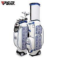 女性、青および白のためのゴルフ・バッグの磁器の刺繍の適用範囲が広いタグボートのエアバッグ