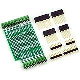"Electronics-Salon Prototype Screw Shield Board Kit For Arduino UNO R3, 0.1"" Mini Terminal Block."