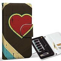 スマコレ ploom TECH プルームテック 専用 レザーケース 手帳型 タバコ ケース カバー 合皮 ケース カバー 収納 プルームケース デザイン 革 ラブリー ハート 虹 カラフル 002452