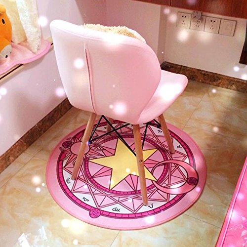 Chu (チュッ) 魔法陣 カーペット チェアマット 直径60cm ピンク