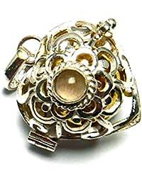 【バリ島より無料で郵送】【期間限定SALE/バリ島ガムランボール】 [Silver925]オープンハート型のガムランボール/ラプンツェル(ローズクォーツ)