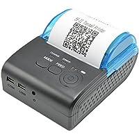 サーマルプリンタ,Camking58MM Bluetooth熱ワイヤレスポータブルミニパーソナルプリンタ,iOSおよびAndroidシステム受信プリンタに対応