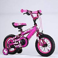 HYCy子供用自転車、2〜4歳の男の子と女の子のバイク、12インチ、高さ85〜105cm