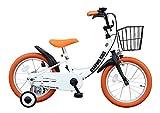 GRAPHIS(グラフィス) 補助輪付き子供用自転車 GR-16 14インチ/ホワイトオレンジ