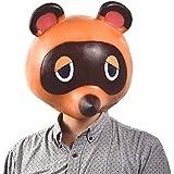 どうぶつの森 たぬきち マスク タヌキチ ハロウィン コスプレ かぶりマスク 仮装 コスチューム小物 ヘルメット たぬきち 仮面 パーティー ゲーム グッズ 変装用マスク