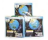 地球儀ボール40cm ブルー3個セット(ふくらましサイズ直径約25cm)BGP-140-03
