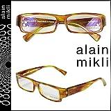 (アランミクリ) alain mikli メガネ [ブラウン] セルフレーム メンズ レディース ユニセックス 眼鏡 ONE SIZE BROWN (並行輸入品)