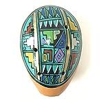 【オカリナ 大サイズ T06】素焼きのオカリナ 1個 陶器製(セラミカ)ペルー製 タイプ柄 T06