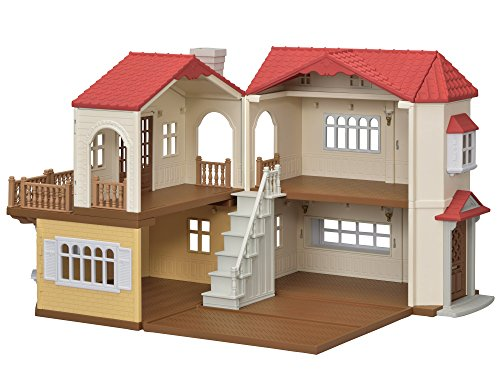 シルバニアファミリー お家 赤い屋根の大きなお家 ハ-48