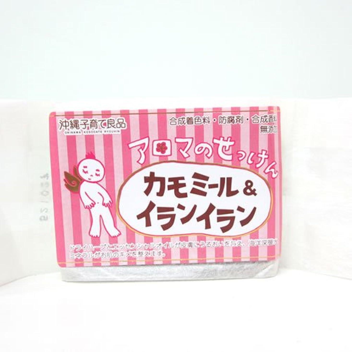 パッケージ兵士楽しむ沖縄子育て良品 アロマのせっけん カモミール (100g)