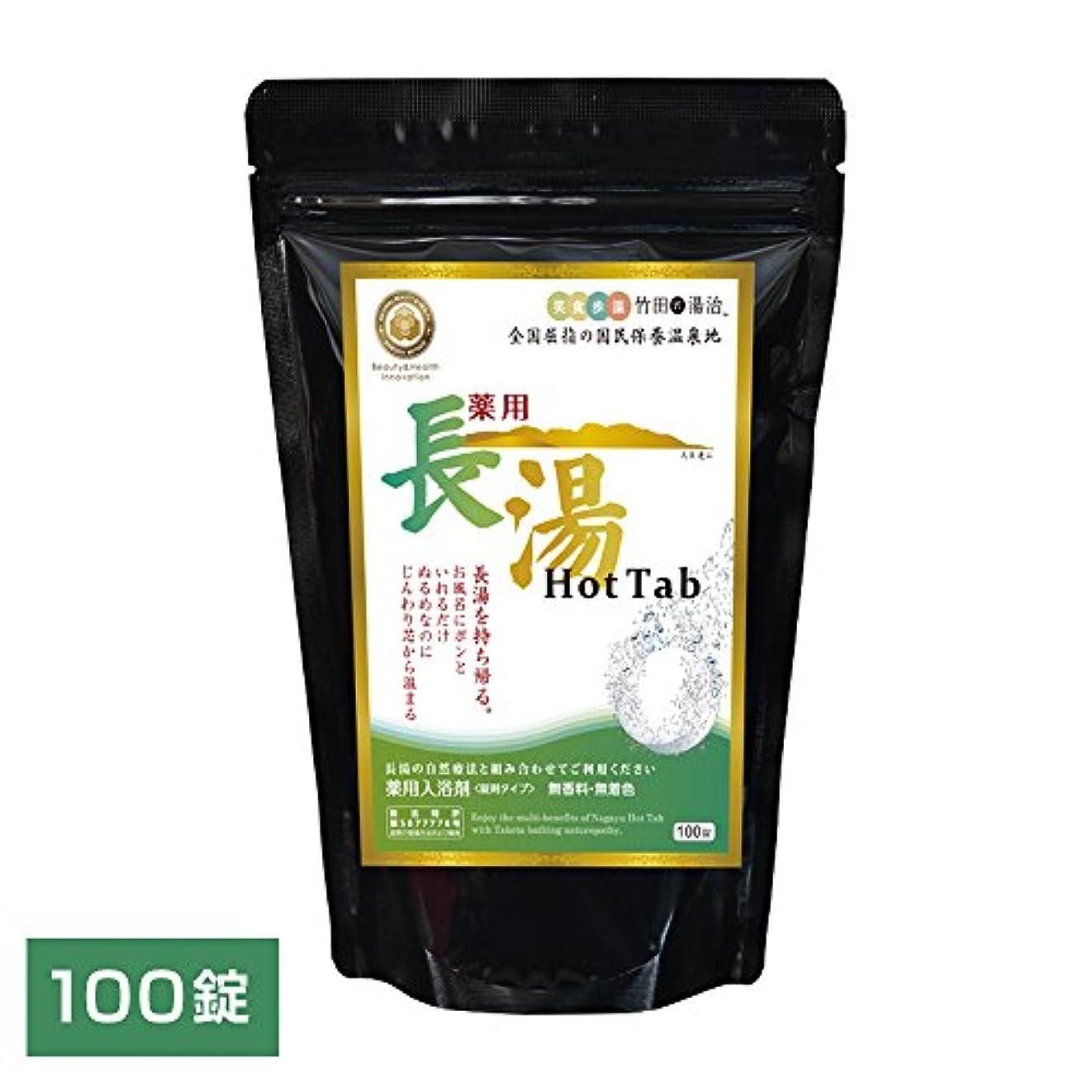 Hot Tab 重炭酸入浴剤 (医薬部外品) 薬用長湯ホットタブ (皮脂汚れを重炭酸の力で除去 美容健康入浴剤 炭酸泉タブレット) 100錠