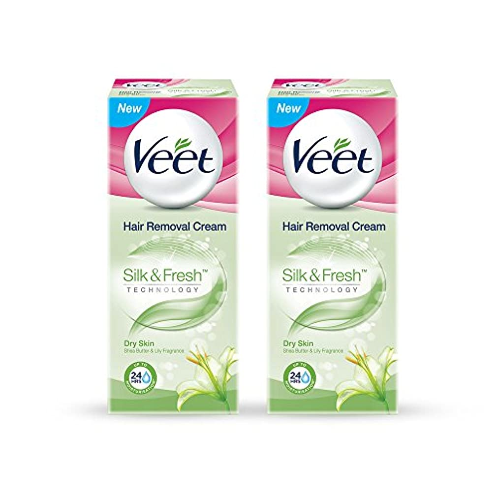 サルベージリーフレットVeet Hair Removal Gel Cream for Dry Skin with Shea Butter & Lily Fragrance 25 g (Pack of 2)