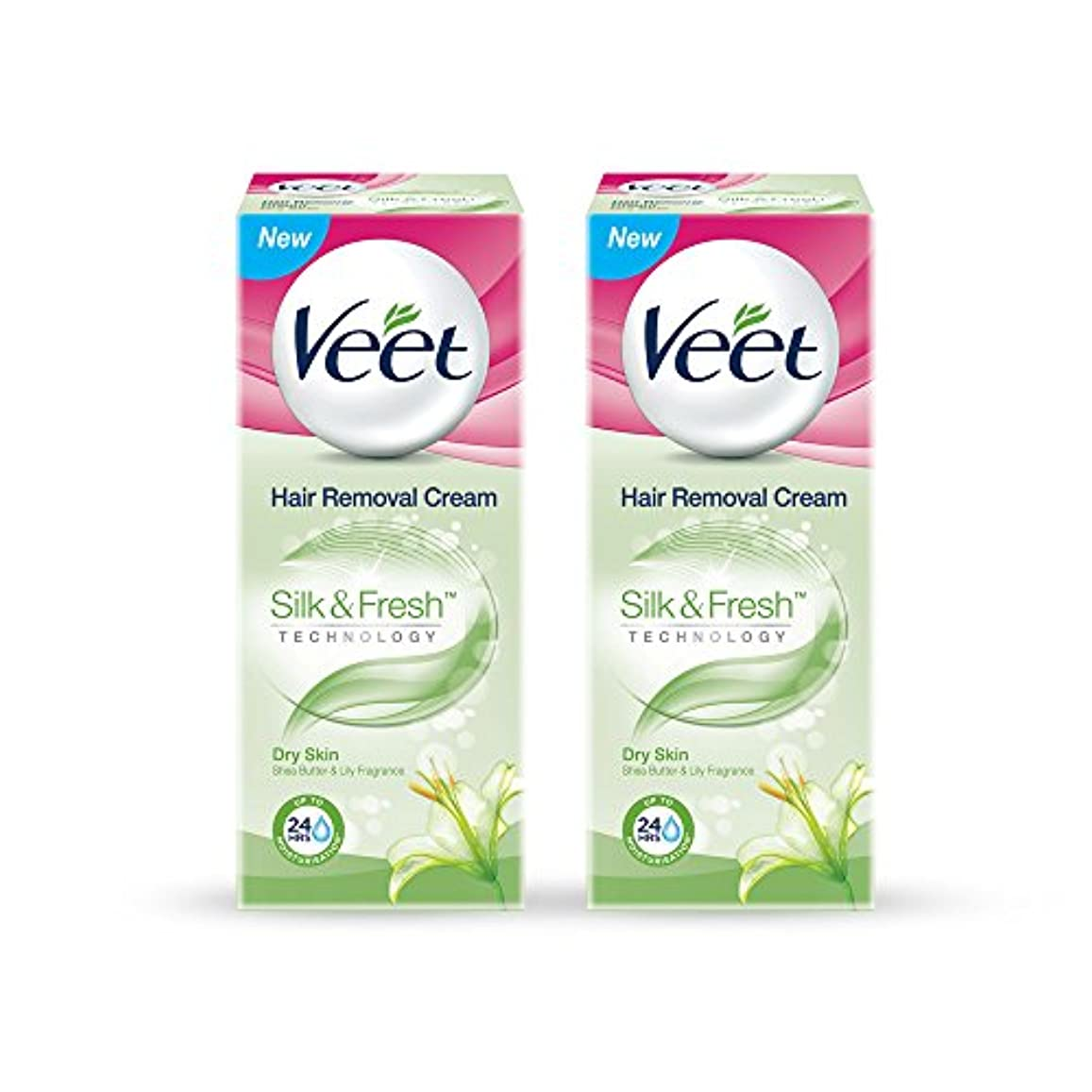 旅アラブサラボサイクロプスVeet Hair Removal Gel Cream for Dry Skin with Shea Butter & Lily Fragrance 25 g (Pack of 2)
