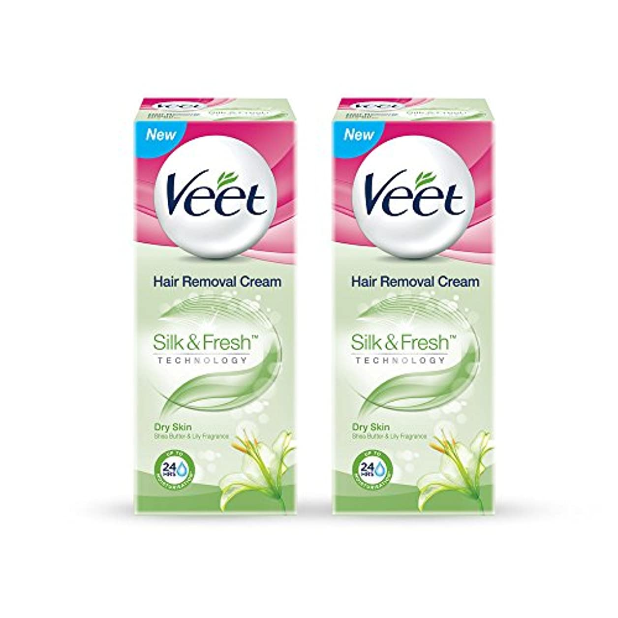 公そうでなければリラックスしたVeet Hair Removal Gel Cream for Dry Skin with Shea Butter & Lily Fragrance 25 g (Pack of 2)