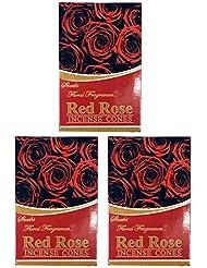 ローズ ROSE お香 インセンス お線香 コーンタイプ 【まとめ買い3個パック】香り(アロマ)でリラック効果