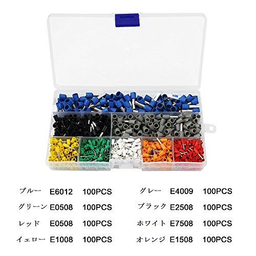 ZILONG 圧着ペンチ 圧着工具 フェルール用 ワイヤーエンドスリーブ 絶縁フェルール端子*800工具セット