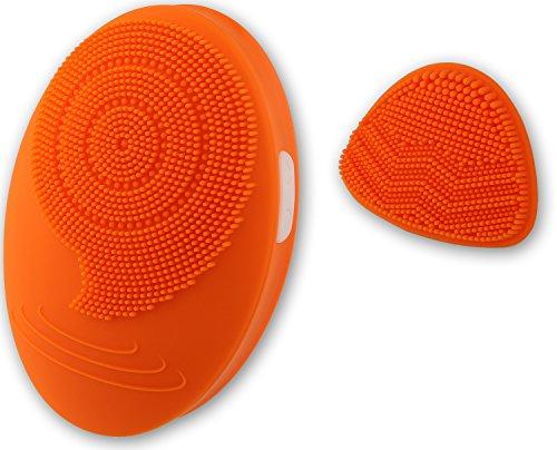 Suprus 電動 洗顔ブラシ 超音波 シリコン 美顔洗顔器 毛穴ケア 2段階スピード エキストラ ディープクレンジングヘッド付き IPX5防水