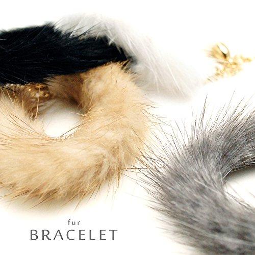 [해외]디. 알 D.R 털이 밍크 팔찌 트렌드 넘치는 패션 아이템/D. R. D. R fluffy mink bracelet Fashionable item with plenty of trendiness