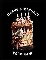 【FOX REPUBLIC】【名入れ・オリジナル・誕生日・HAPPY BIRTHDAY・バースデーケーキ】 黒光沢紙(フレーム無し)A3サイズ
