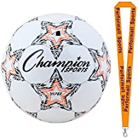 ChampionスポーツViper Soccer Balls Assorted色とサイズwith 1 performall Lanyard