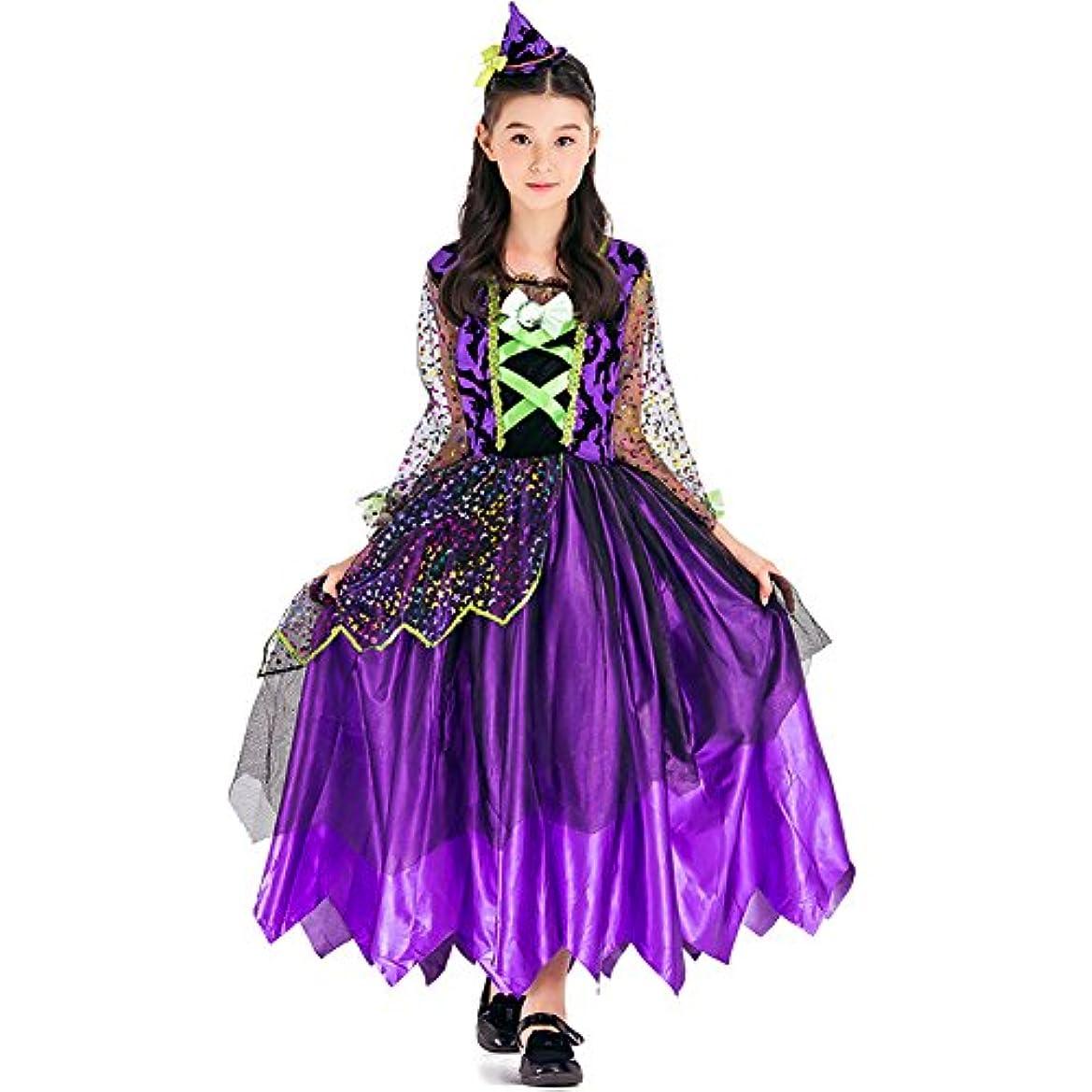 幸福中央値貸すHoneystore キッズコスチューム プリンセス 魔女 悪魔 ハロウィン 衣装 コスプレ 子供 女の子 ワンピース 110