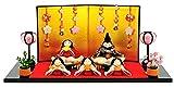 雛人形 リュウコドウ ちりめん ふっくら ひな人形 平飾り 五人飾り 別注 桜雛 h283-rkcp-1-710