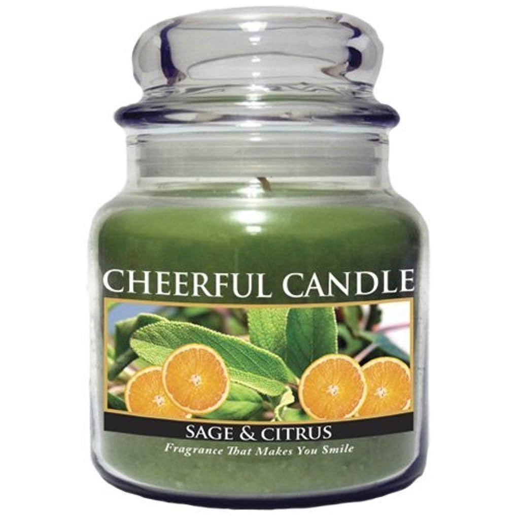 声を出して半径粘土A Cheerful Giver Sage and Citrus Jar Candle, 16-Ounce [並行輸入品]