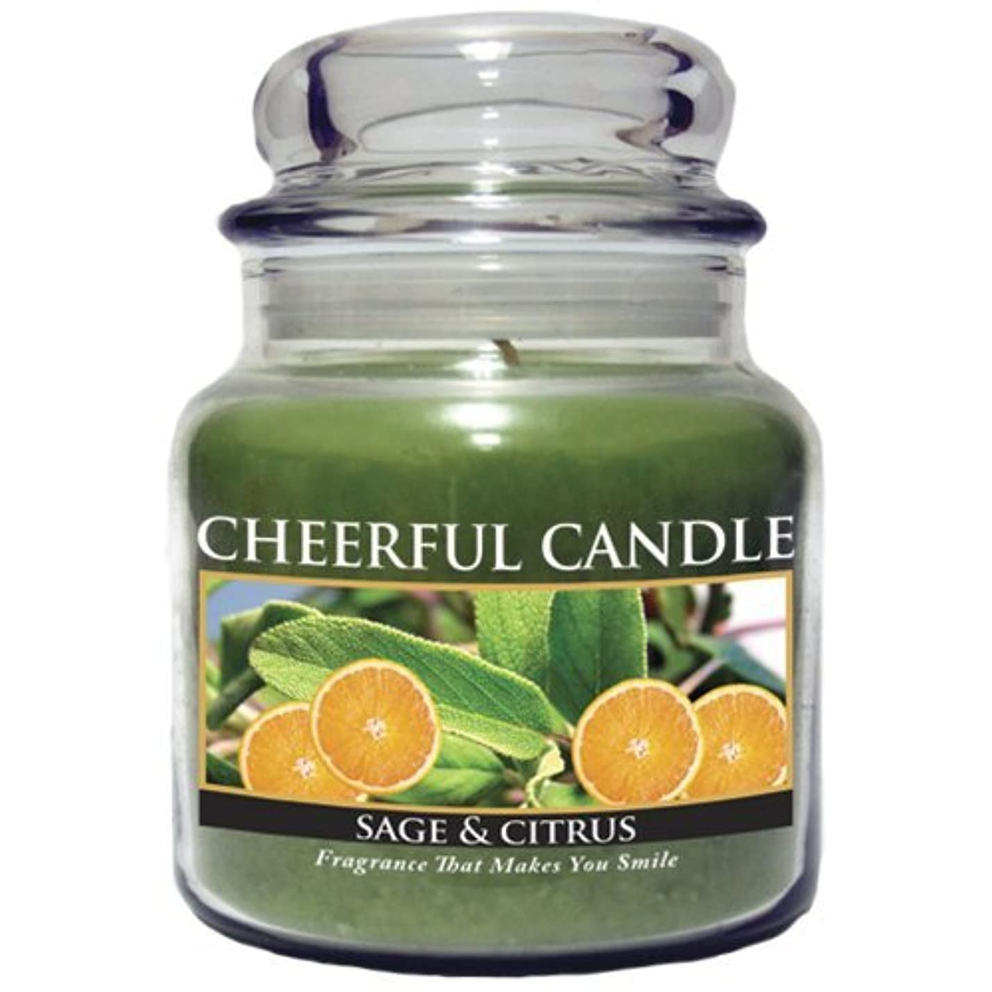 農夫目指す捕虜A Cheerful Giver Sage and Citrus Jar Candle, 16-Ounce [並行輸入品]