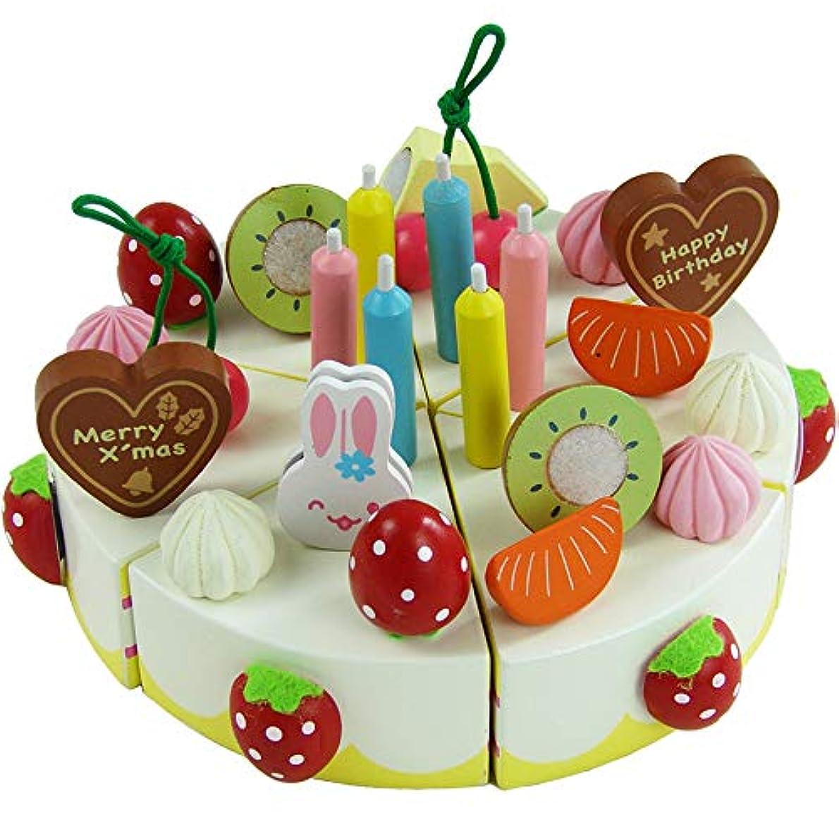 スカウトチャートストラトフォードオンエイボン赤ちゃん知育玩具子供イチゴシミュレーションクリーム誕生日ケーキ木のおもちゃふりプレイキッチン玩具幼児誕生日プレゼント