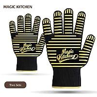 マジックキッチンオーブングローブ耐熱性調理用手袋料理、BBQ、グリル、Baking (Set of 2)