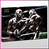 S525 UFC Jon Bones Jones Close Clinch Elbow To The Chin Champion Unique Framed Ready To Hang Canvas, Sport, Pop Street, Wall Art, Picture by What's On Your Wall
