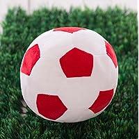 Easyflower キュートソフトトイ ソフトシミュレーション 22cm フットボール ぬいぐるみ 人形 子供用ギフト (赤白色)