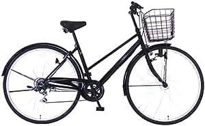 C.Dream(シードリーム) ココブラック CC766BK 27インチ自転車 シティサイクル ブラック 6段変速 100%組立済み発送