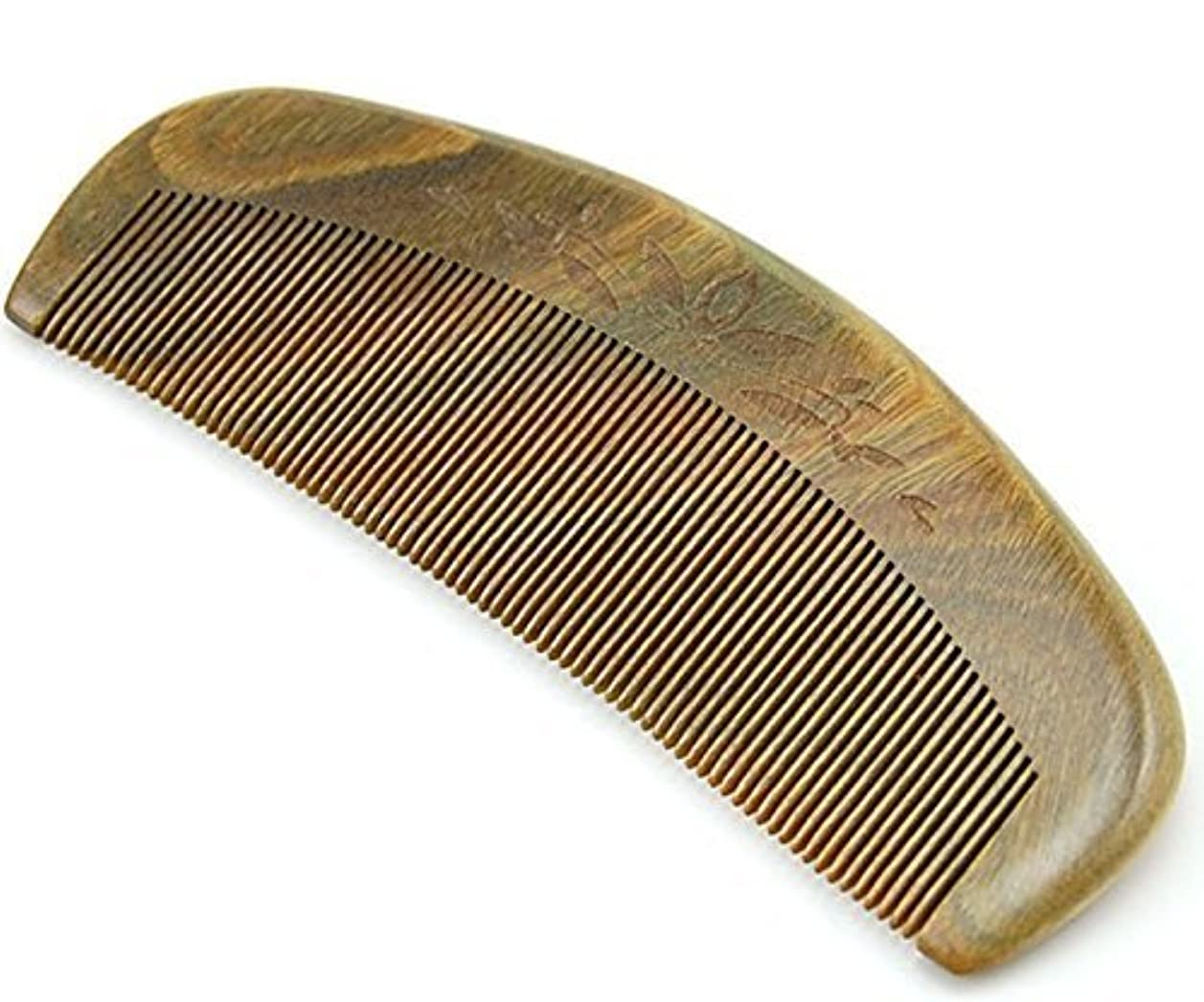 オープナーインスタント根絶するJoyo Natural Green Sandalwood Fine Tooth Comb, Anti Static Pocket Wooden Comb 5