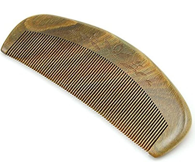 出発する逮捕和解するJoyo Natural Green Sandalwood Fine Tooth Comb, Anti Static Pocket Wooden Comb 5
