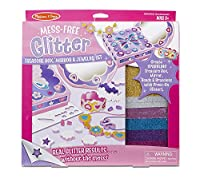 Melissa & Doug Mess Free Glitter Treasure Box, Mirror & Jewelry Set [並行輸入品]