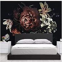 Xbwy 写真の壁紙現代のシンプルな3Dステレオ牡丹ユリ手描きの花壁画リビングルームの寝室の背景-120X100Cm