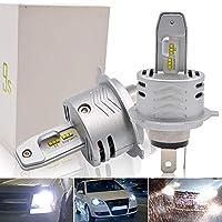 Safego H4 LED 車検対応 車用 ヘッドライト 6000K 電球 キット H4高輝度 LEDバルブ 変換 キット 12v 置き換 HID 電球 一体型 一年保障