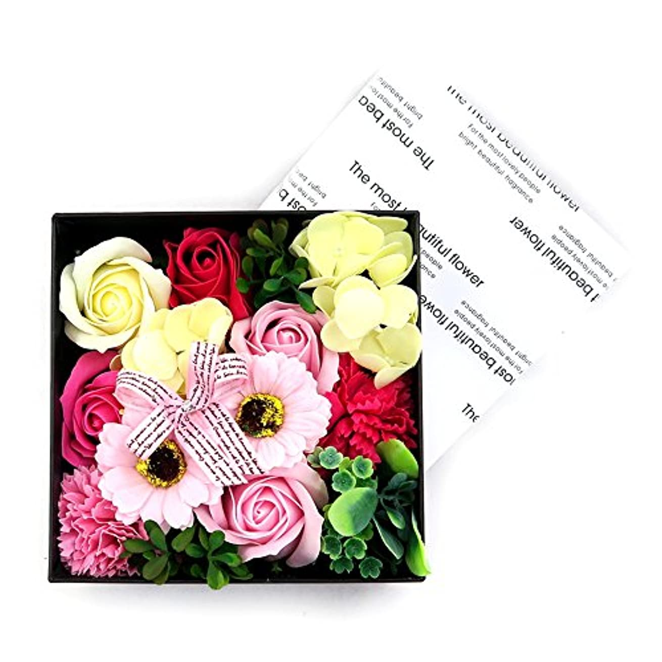 無駄タンパク質バイソン花のカタチの入浴料!フラワーフレグランスボックス プリントボックス
