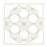 オリムパス製絲 花ふきんキット 刺し子 みんなできちゃうシリーズ 図案プリント済 飛び麻の葉 269