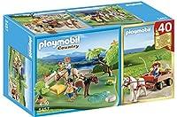 PLAYMOBIL 40th Anniversary Pony Pasture Compact Set and Pony Wagon [並行輸入品]