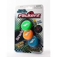 Flickerz Flying Disc, Orange/Green/Blue, 3-Pack by Flickerz [並行輸入品]