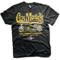 Gas Monkey Garage Officially Licensed GMG - Green Hot Rod Big & Tall 3XL,4XL,5XL Mens T-Shirt (Black)