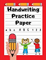 Handwriting Practice Paper: Grades K-2 | Handwriting Workbook for Kids | 100 Dotted Line Pages | Cherry Red