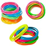 (144) - Tytroy Children Neon Rainbow Assorted Colour Jelly Bracelets Birthday Party Favours Gifts - 144 piece - (144)