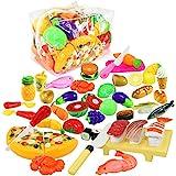 wtor 39件套过家家寿司蔬菜水果汉堡厨房料理吧儿童玩具益智玩具男孩女孩圣诞节生日礼物收纳包移动