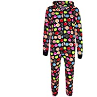 Kids Girls Boys Fruit Print Cotton A2Z Onesie One Piece Hooded Jumpsuit 2-13 Yr