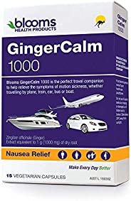 Henry Blooms 1000 mggingerCalm 15 Vegetarian Capsules Travel Pack