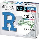 TDK データ用 CD-R 700MB 48X ホワイトプリンタブル 10枚パック CD-R80PWX10A